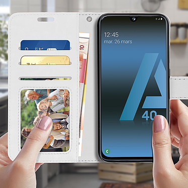 Acheter Avizar Etui folio Blanc pour Samsung Galaxy A40