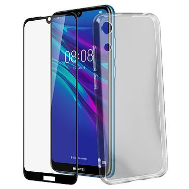 Avizar Pack protection Noir pour Huawei Y6 2019 pas cher