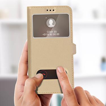 Acheter Avizar Etui folio Dorée Éco-cuir pour Huawei P Smart