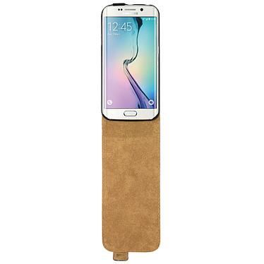 Avizar Etui à clapet Noir pour Samsung Galaxy S6 Edge pas cher