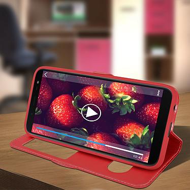 Avis Avizar Etui folio Rouge Support Vidéo pour Samsung Galaxy J6