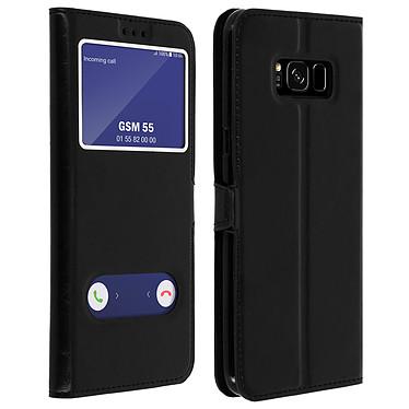 Avizar Etui folio Noir pour Samsung Galaxy S8 Plus Etui folio Noir Samsung Galaxy S8 Plus