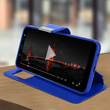 Avis Avizar Etui folio Bleu à fenêtre pour Samsung Galaxy A6