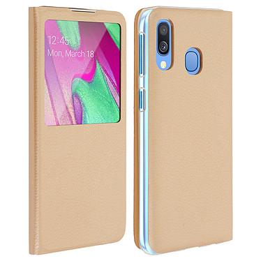 Avizar Etui folio Dorée pour Samsung Galaxy A40 Etui folio Dorée Samsung Galaxy A40