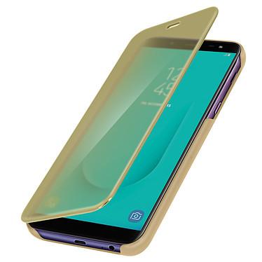 Avizar Etui folio Dorée pour Samsung Galaxy J6 pas cher