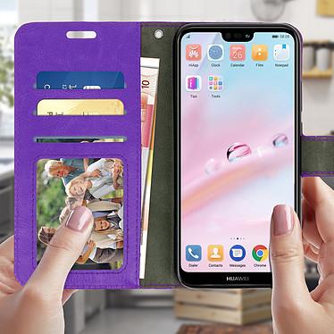 Avizar Etui folio Violet pour Huawei P20 Lite pas cher
