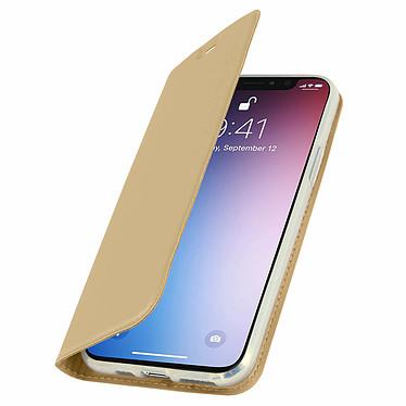 Avizar Etui folio Dorée Éco-cuir pour Apple iPhone 11 Pro Max pas cher