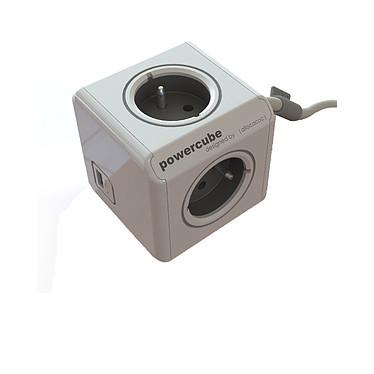 Chacon Powercube 3 Prises Et 1 Usb Avec Station De Fixation 48041 Le PowerCube est une multiprise à 3 prises et 1 port USB de recharge, pouvant être fixé au mur ou sous un bureau.