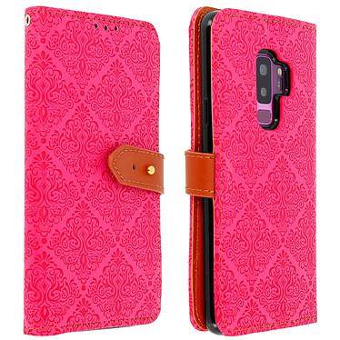 Avizar Etui folio Rose pour Samsung Galaxy S9 Plus Etui folio Rose Samsung Galaxy S9 Plus