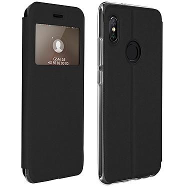 Avizar Etui folio Noir pour Xiaomi Redmi Note 5 Etui folio Noir Xiaomi Redmi Note 5