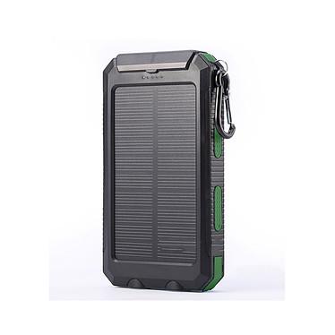 Cellys Batterie externe solaire double USB 10 000MAh Vert Batterie externe solaire double USB 10 000MAh