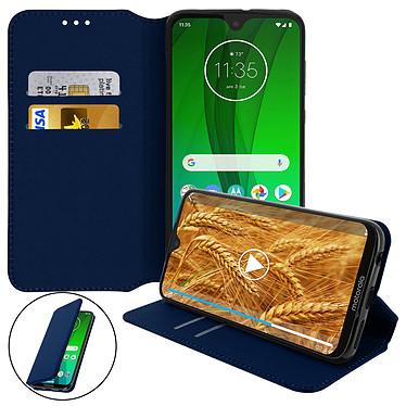 Avizar Etui folio Bleu Nuit pour Motorola Moto G7 , Motorola Moto G7 Plus pas cher