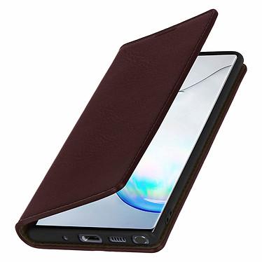 Avizar Etui folio Marron pour Samsung Galaxy Note 10 Plus pas cher