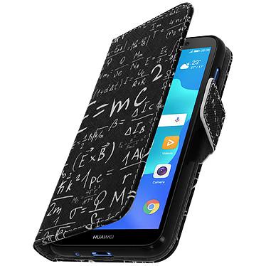 Avizar Etui folio Noir Formules Mathématiques pour Huawei Y5 2018 , Honor 7S Etui folio Noir motif formules mathématiques Huawei Y5 2018 , Honor 7S
