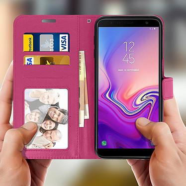 Avis Avizar Etui folio Fuchsia pour Samsung Galaxy J6 Plus