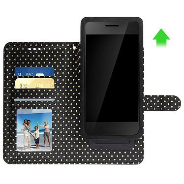 Avis Avizar Etui folio Noir pour Smartphones de 3.8' à 4.3'