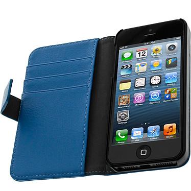Avizar Etui folio Bleu pour Apple iPhone 5 , Apple iPhone 5S , Apple iPhone SE Etui folio Bleu Apple iPhone 5 , Apple iPhone 5S , Apple iPhone SE
