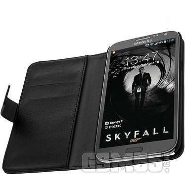 Avizar Etui folio Noir pour Samsung Galaxy Note 2 N7100 pas cher