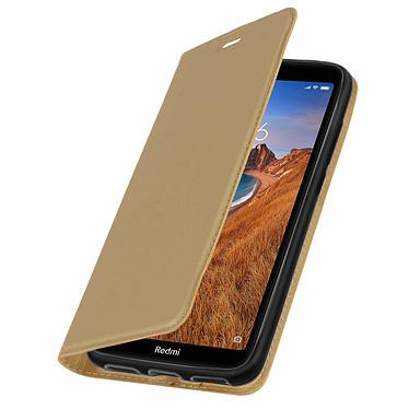 Avizar Etui folio Dorée Éco-cuir pour Xiaomi Redmi 7A pas cher