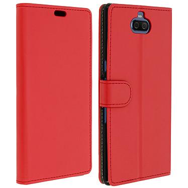 Avizar Etui folio Rouge Éco-cuir pour Sony Xperia 10 Plus Etui folio Rouge Sony Xperia 10 Plus