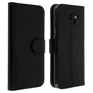 Avizar Etui folio Noir Portefeuille pour Samsung Galaxy J6 Etui folio Noir portefeuille Samsung Galaxy J6