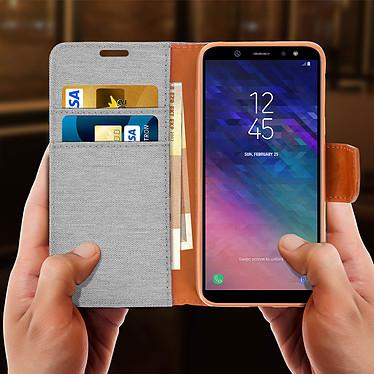 Acheter Avizar Etui folio Gris pour Samsung Galaxy A6 Plus