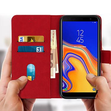 Acheter Avizar Etui folio Rouge Porte-Carte pour Samsung Galaxy J6 Plus