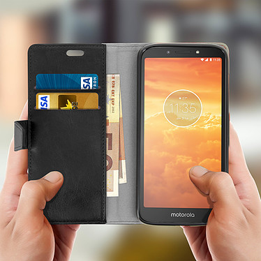 Acheter Avizar Etui folio Noir pour Motorola Moto E5 Play