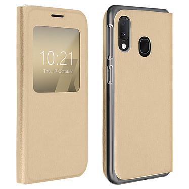 Avizar Etui folio Dorée pour Samsung Galaxy A20e Etui folio Dorée Samsung Galaxy A20e