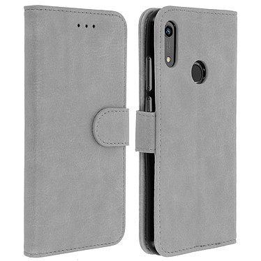 Avizar Etui folio Gris pour Huawei Y6 2019 , Honor 8A Etui folio Gris Huawei Y6 2019 , Honor 8A