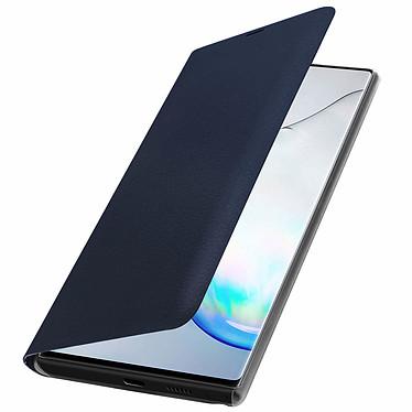Avizar Etui folio Bleu Nuit Porte-Carte pour Samsung Galaxy Note 10 pas cher