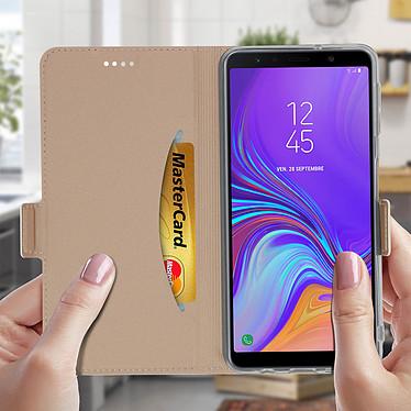 Acheter Avizar Etui folio Rose Champagne Stand Vidéo pour Samsung Galaxy A7 2018