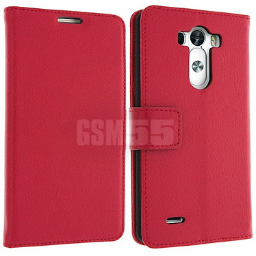 Avizar Etui folio Rouge pour LG G3 Etui folio Rouge LG G3