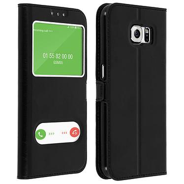 Avizar Etui folio Noir pour Samsung Galaxy S6 Etui folio Noir Samsung Galaxy S6