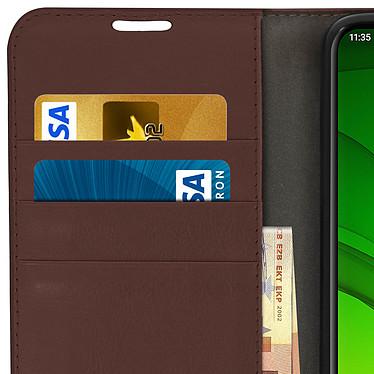 Avis Avizar Etui folio Marron pour Motorola Moto G7 , Motorola Moto G7 Plus