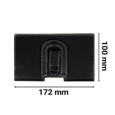 Avis Avizar Etui ceinture Noir pour Smartphones : Longueur entre 172 x 100 x 18 mm