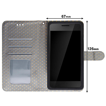 Acheter Avizar Etui folio Argent pour Smartphones de 4.3' à 4.7'