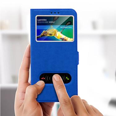 Acheter Avizar Etui folio Bleu Éco-cuir pour Huawei Mate 20 lite