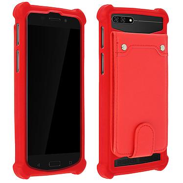 Avizar Coque Rouge pour Compatibles avec Smartphones de 4,7 à 5,0 pouces Coque Rouge Compatibles avec Smartphones de 4,7 à 5,0 pouces