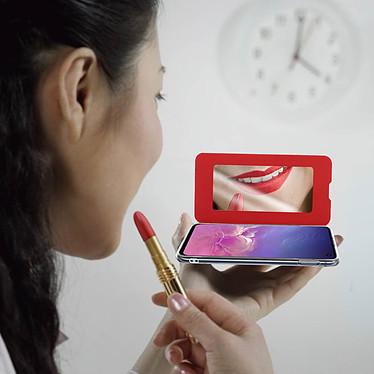 Acheter Avizar Etui folio Rouge Miroir pour Samsung Galaxy S10e