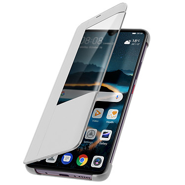 Avizar Etui folio Argent pour Huawei Mate 20 pas cher