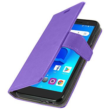 Avizar Etui folio Violet pour Alcatel 1 , Orange Rise 54 pas cher