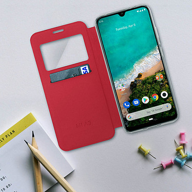 Avis Avizar Etui folio Rouge pour Xiaomi Mi A3