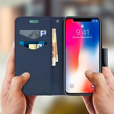 Acheter Avizar Etui folio Turquoise pour Apple iPhone X , Apple iPhone XS
