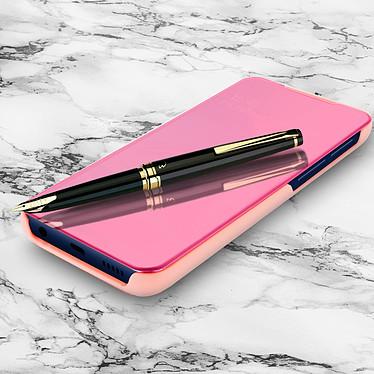 Avizar Etui folio Rose Design Miroir pour Samsung Galaxy A20e pas cher