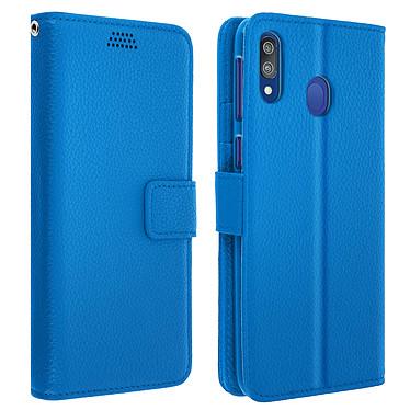 Avizar Etui folio Bleu pour Samsung Galaxy M20 Etui folio Bleu Samsung Galaxy M20