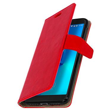 Avizar Etui folio Rouge pour Alcatel 3 , Orange Dive 73 pas cher