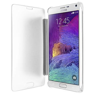 Avizar Etui folio Argent pour Samsung Galaxy Note 4 pas cher