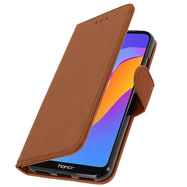 Avizar Etui folio Marron pour Huawei Y6 2019 , Honor 8A pas cher