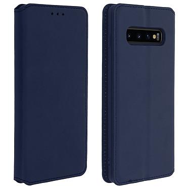 Avizar Etui folio Bleu Nuit pour Samsung Galaxy S10 Etui folio Bleu Nuit Samsung Galaxy S10